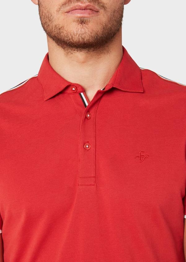 Polo manches courtes Slim en coton uni rouge - Father and Sons 33433