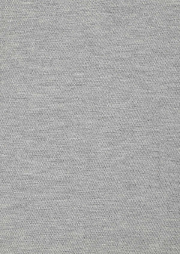 Polo manches courtes Slim en coton uni gris perle - Father and Sons 33977