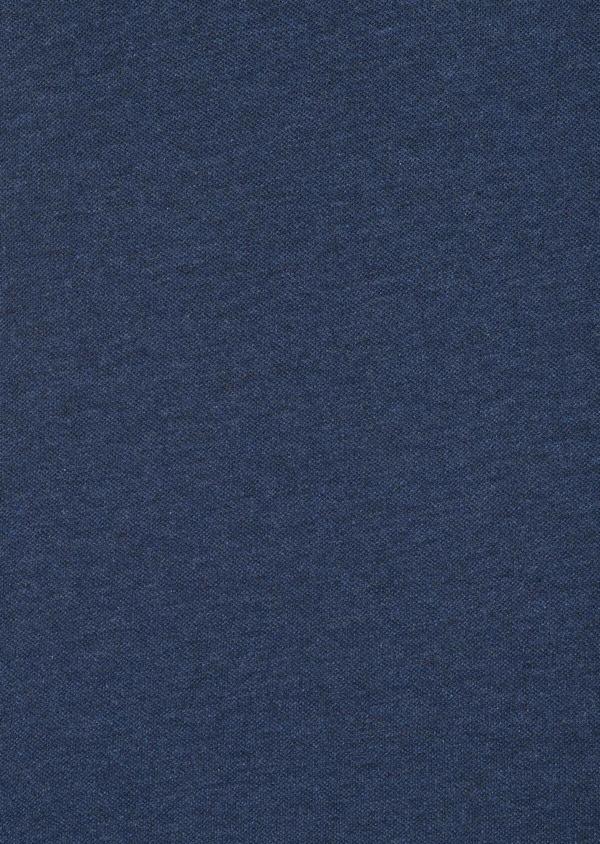 Polo manches courtes Slim en coton uni bleu jeans - Father and Sons 33425