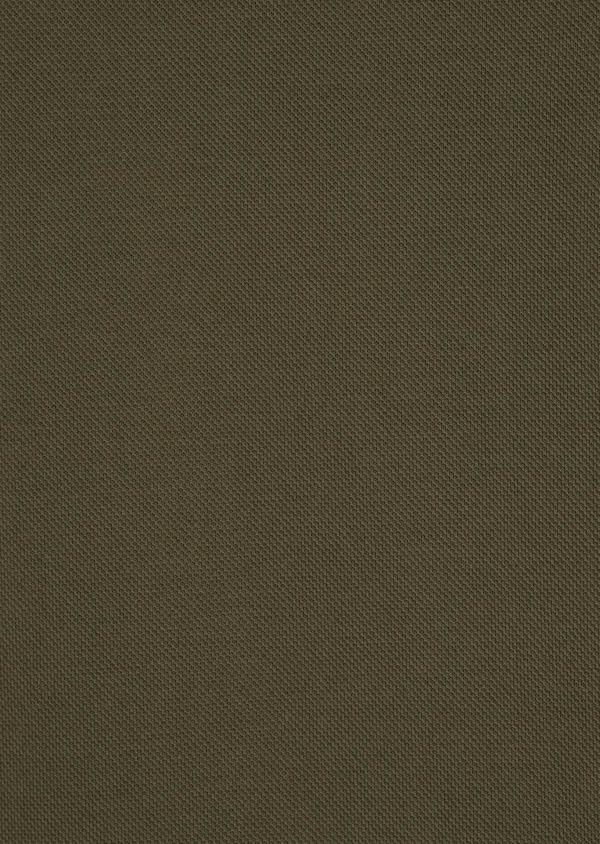 Polo manches courtes Slim en coton uni vert kaki - Father and Sons 34221