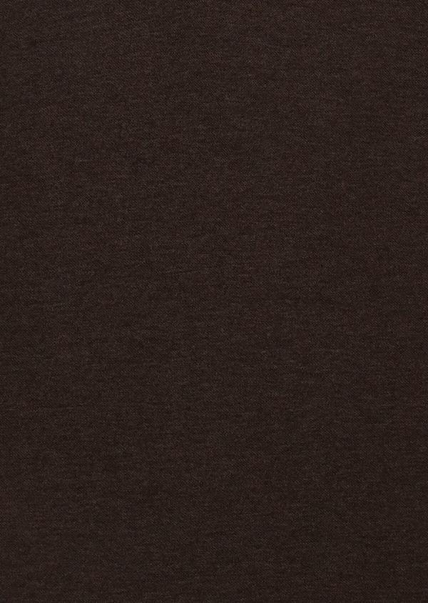 Polo manches courtes Slim en coton uni marron - Father and Sons 34001