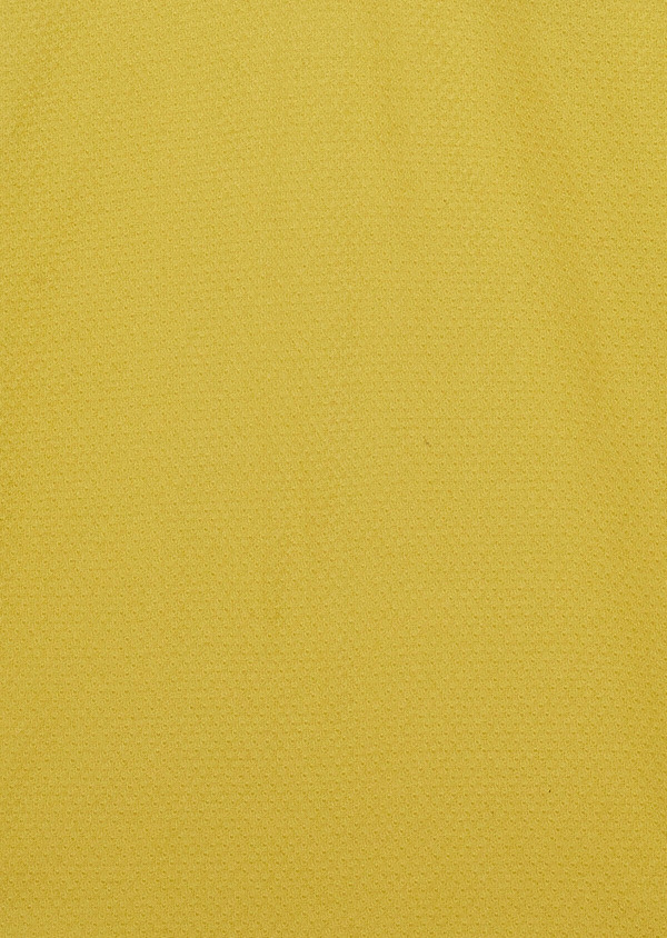 Polo manches courtes Slim en coton uni jaune - Father and Sons 33927