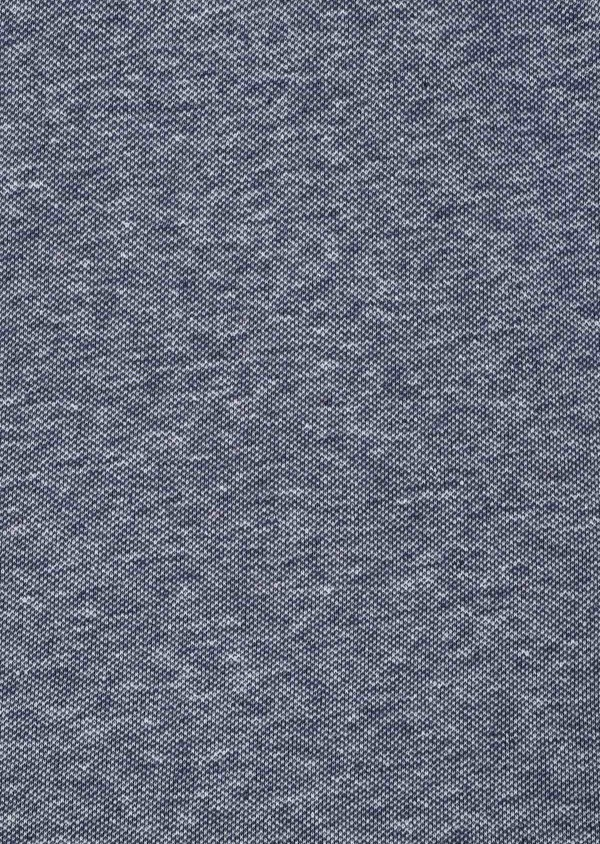 Polo manches courtes Slim en coton uni bleu - Father and Sons 33987