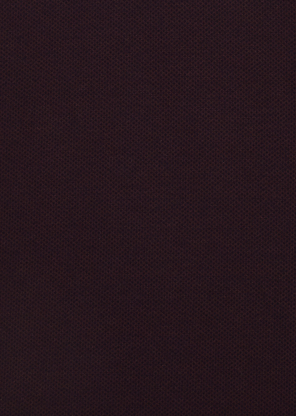 Polo manches courtes Slim en coton uni violet - Father and Sons 33435