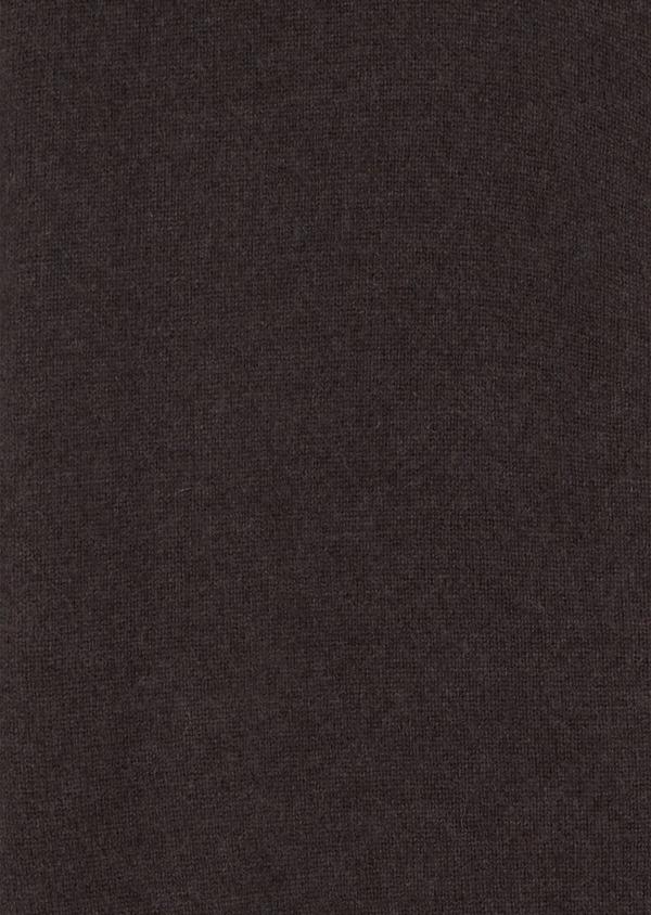 Gilet zippé en cachemire uni marron - Father and Sons 35473