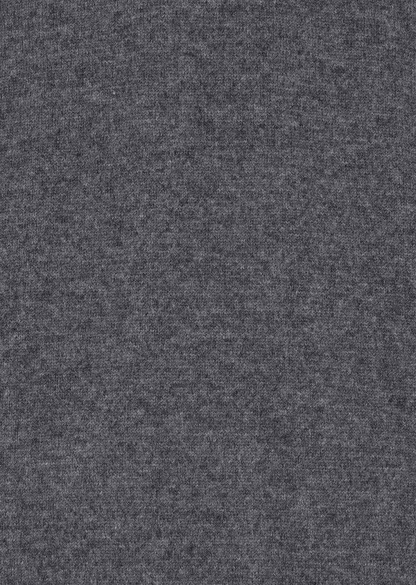 Pull en cachemire col V uni gris - Father and Sons 31818