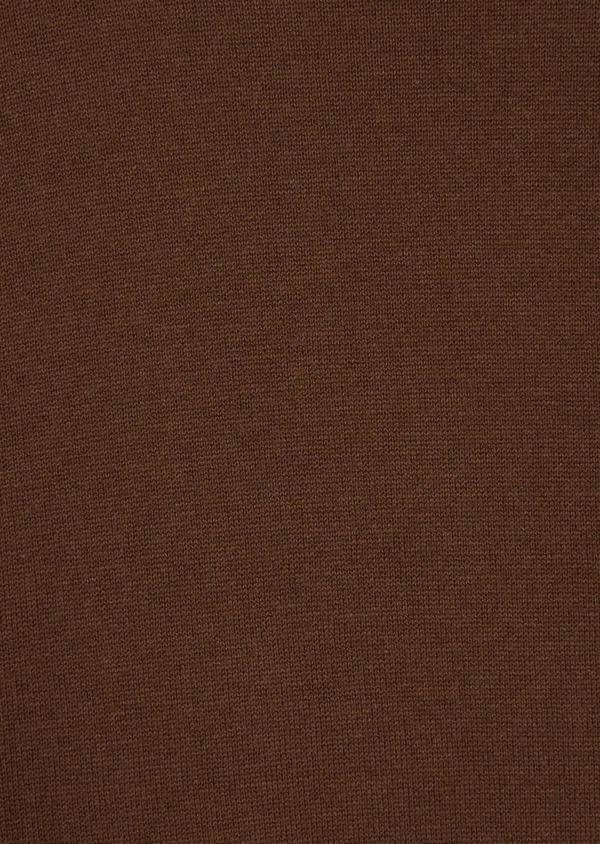 Pull en coton et soie col rond uni cognac - Father and Sons 36207