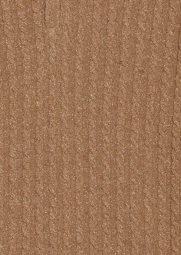 Pull en laine col montant zippé uni beige - Father and Sons 27033