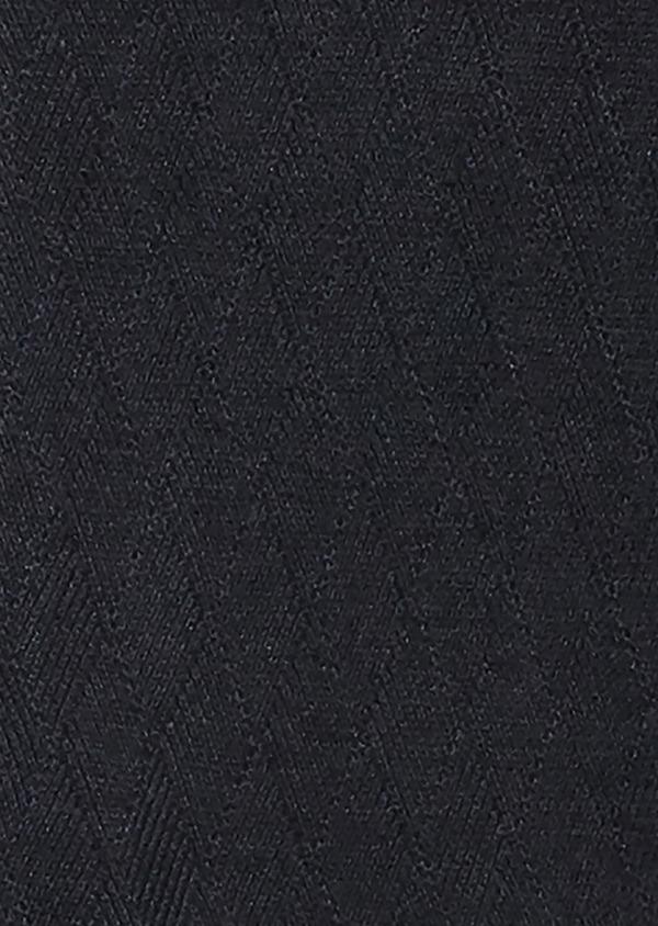 Cardigan en coton mélangé à fermeture zippée uni bleu - Father and Sons 27040