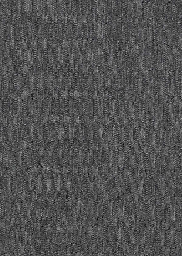 Pull en coton mélangé col montant zippé uni gris - Father and Sons 28091