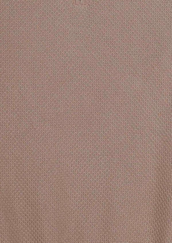 Pull en coton col zippé uni beige - Father and Sons 33495