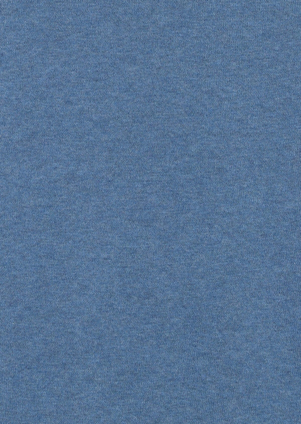 Pull en coton col rond uni bleu - Father and Sons 34041