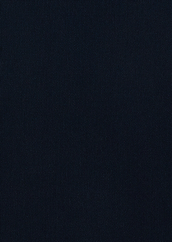 Pull en coton col V uni bleu marine - Father and Sons 34050