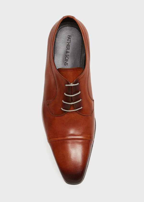 Derbys en cuir lisse caramel - Father and Sons 25930