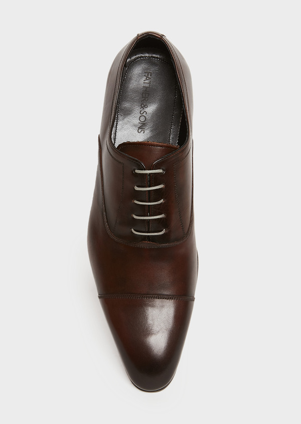 Richelieus en cuir lisse marron - Father and Sons 25935