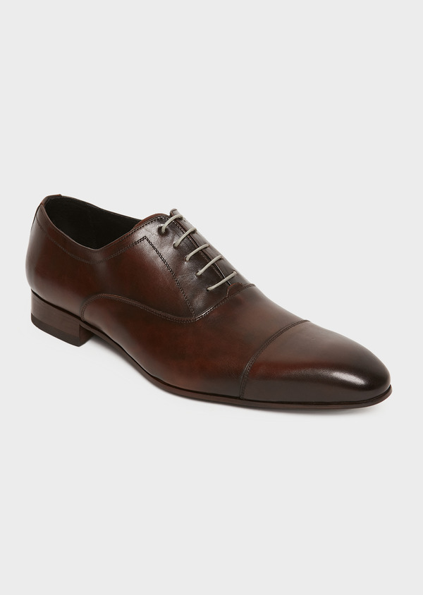 Richelieus en cuir lisse marron - Father and Sons 25934