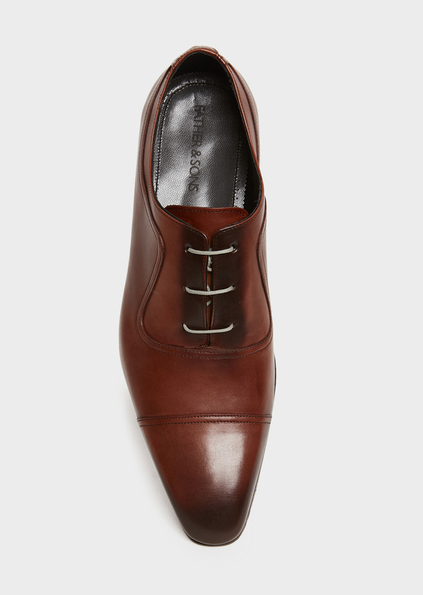 Richelieus en cuir lisse cognac - Father and Sons 25945