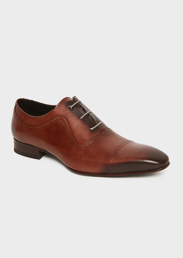 Richelieus en cuir lisse cognac - Father and Sons 25944
