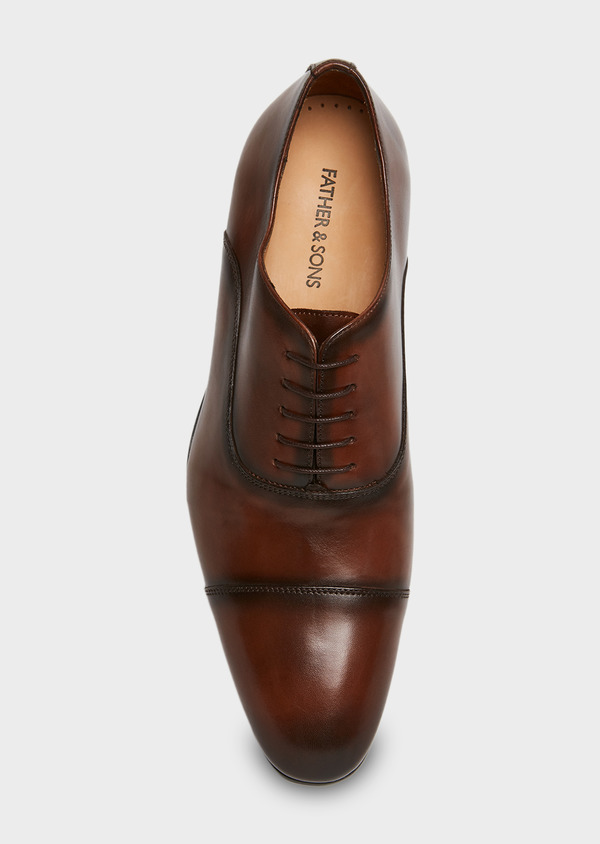 Richelieus en cuir lisse marron - Father and Sons 25950