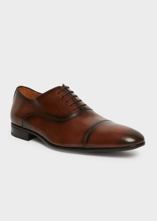 Richelieus en cuir lisse marron - Father and Sons 25949