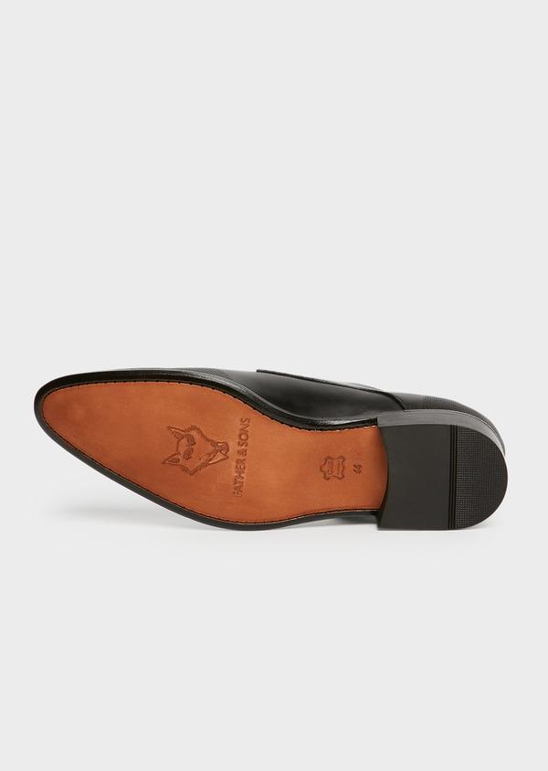 Derbies en cuir lisse noir à micro perforations - Father and Sons 25966
