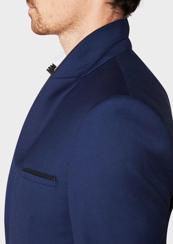 Smoking Slim en laine unie bleu indigo - Father and Sons 33521