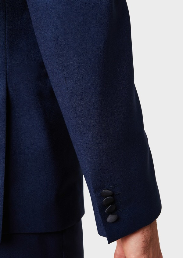 Smoking Slim en laine unie bleu indigo - Father and Sons 33522