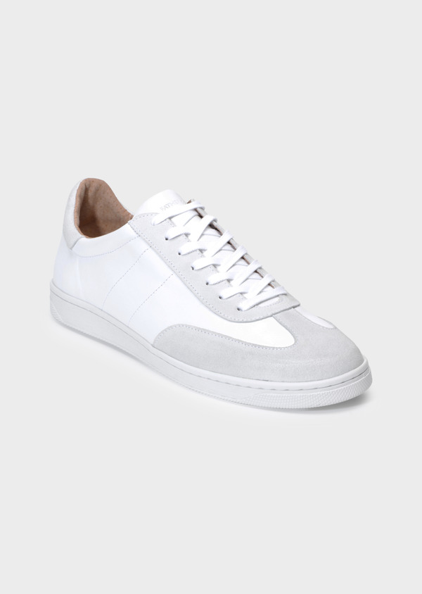 Baskets basses en cuir lisse blanc - Father and Sons 35505