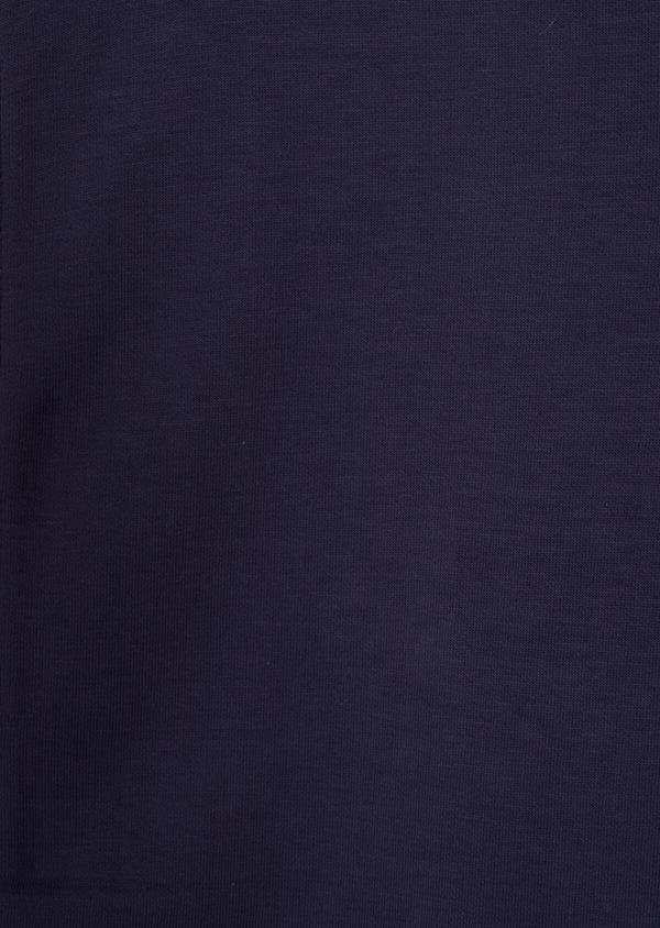 Sweat en coton mélangé à capuche uni bleu - Father and Sons 36827