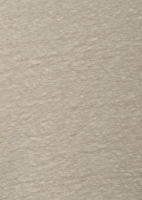Tee-shirt manches courtes en lin col boutonné uni beige - Father and Sons 33735