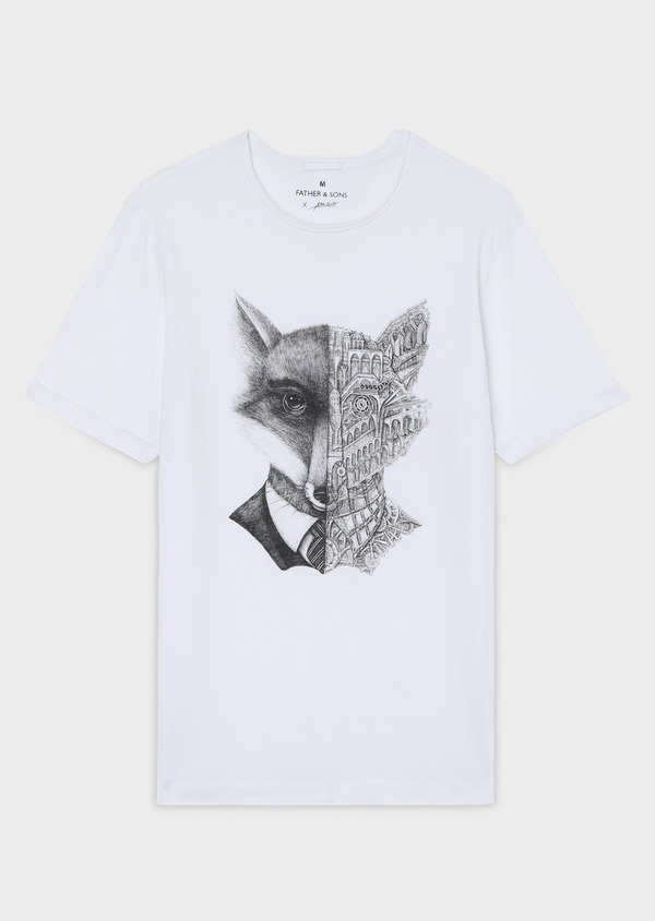 Tee-shirt Edition Limitée Ardif manches courtes en coton blanc - Father and Sons 34057