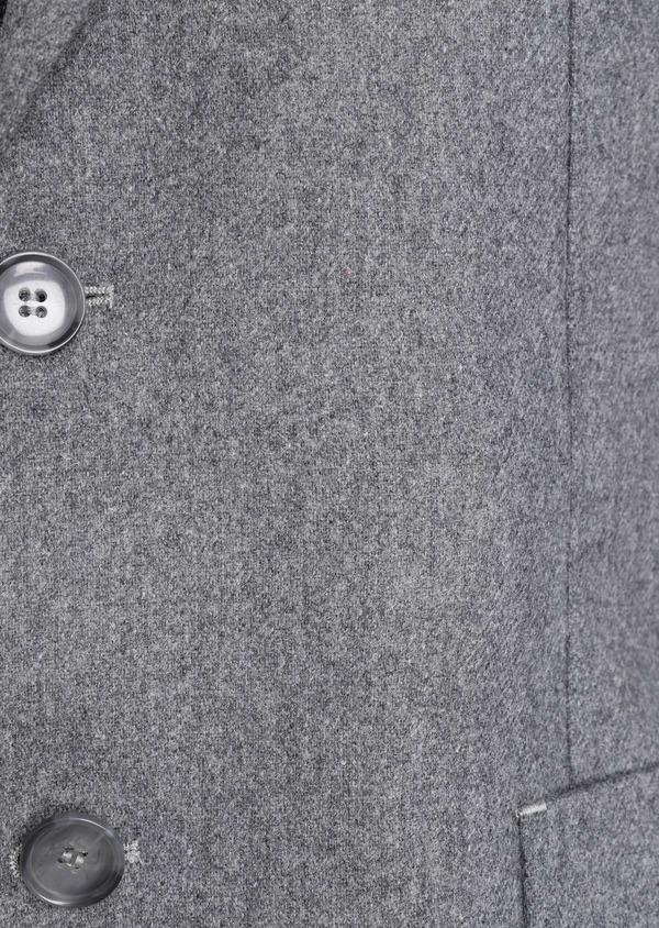 Veste casual Regular en flanelle grise avec parementure vert kaki amovible - Father and Sons 36228