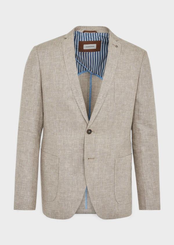 Veste casual Regular en lin et coton marron - Father and Sons 38920