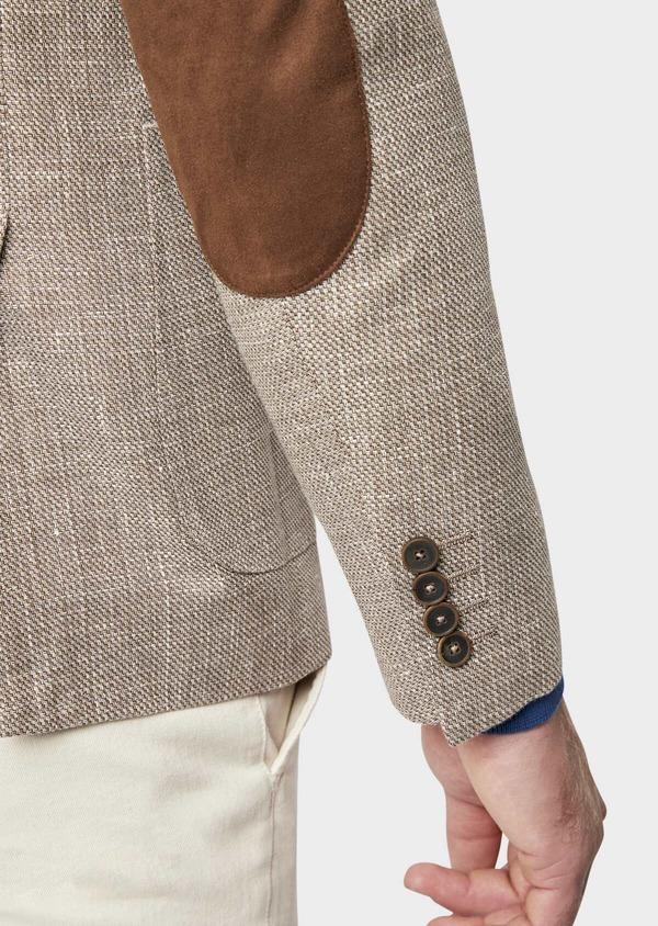 Veste casual Regular en lin et coton marron - Father and Sons 38925