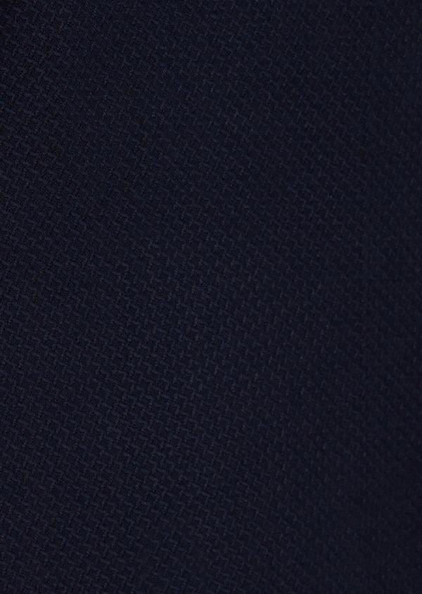 Veste casual regular en coton mélangé façonné bleu indigo - Father and Sons 39441