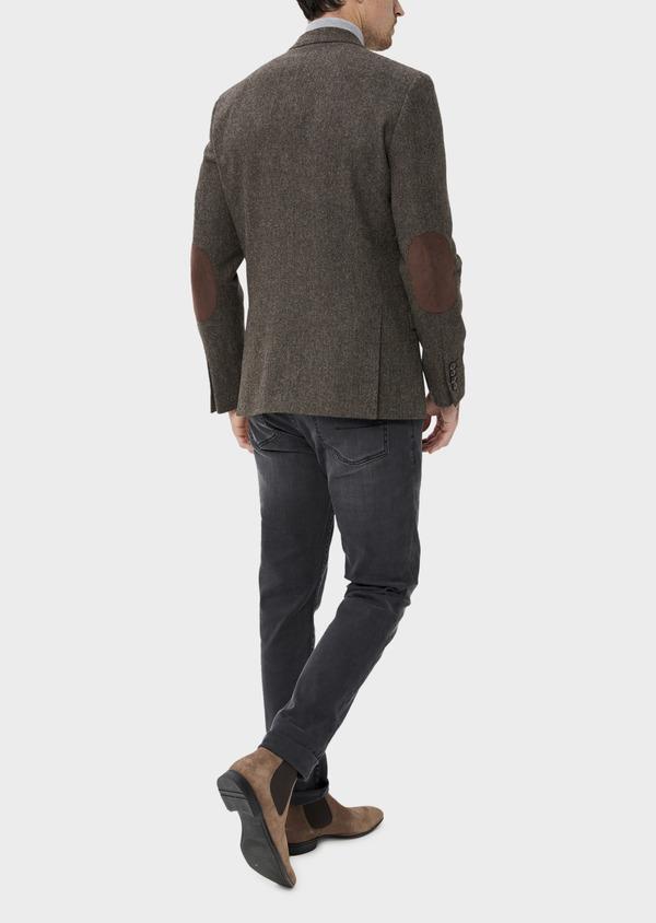 Veste casual Regular en laine mélangée unie marron - Father and Sons 35533