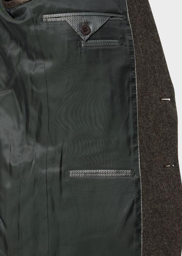 Veste casual Regular en laine mélangée unie marron - Father and Sons 35536