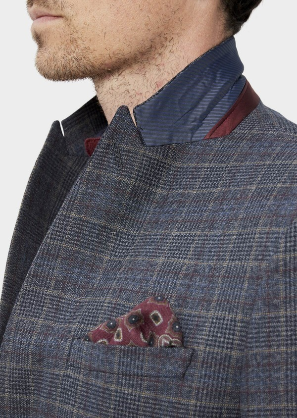 Veste coordonnable Slim bleu indigo Prince de Galles - Father and Sons 35516