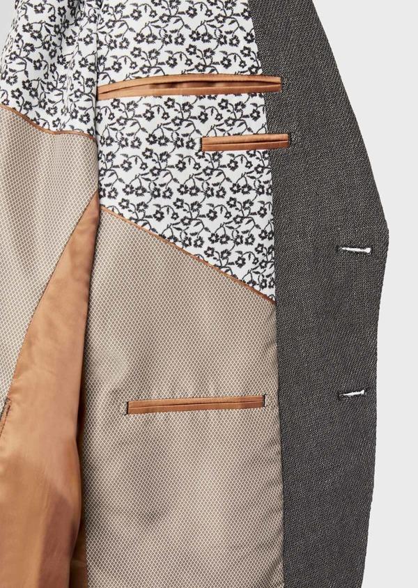 Veste casual Slim en lin et coton uni gris anthracite - Father and Sons 38933