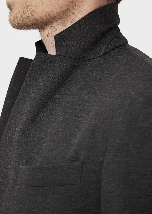 Veste coordonnable Slim en jersey uni gris - Father and Sons 35548