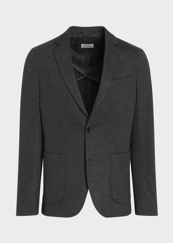 Veste coordonnable Slim en jersey uni gris - Father and Sons 35544