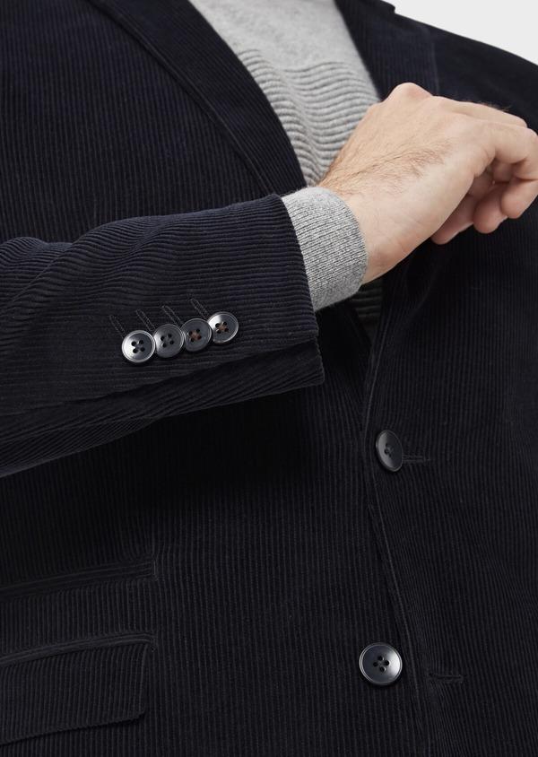 Veste coordonnable Slim en velours côtelé bleu indigo - Father and Sons 35524