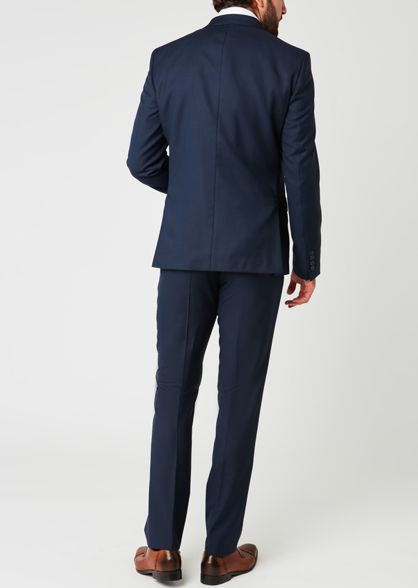 Veste de costume Regular en laine Vitale Barberis Canonico bleu marine Prince de Galles - Father and Sons 19992
