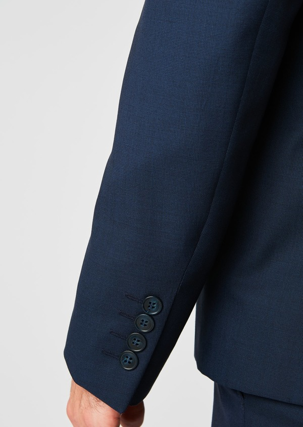 Veste de costume Regular en laine Vitale Barberis Canonico bleu marine Prince de Galles - Father and Sons 19994