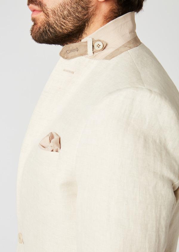 Veste coordonnable Regular en lin beige - Father and Sons 20259