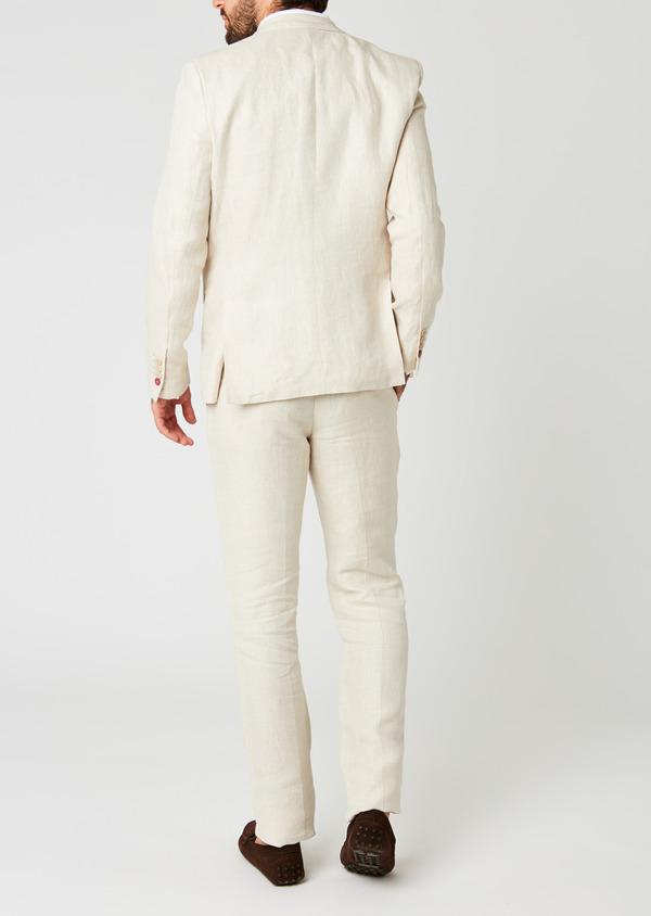 Veste coordonnable Regular en lin beige - Father and Sons 20258