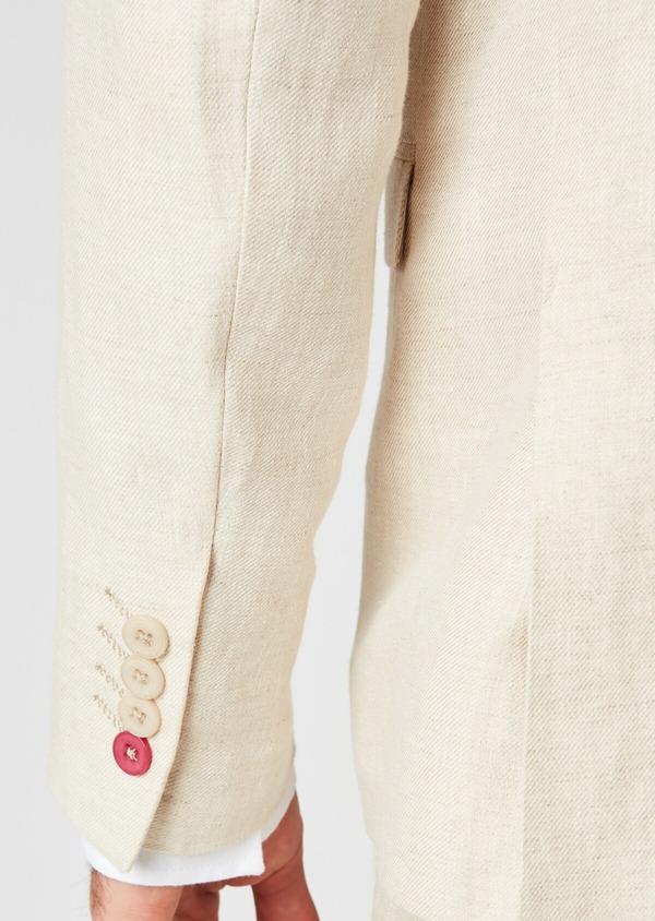 Veste coordonnable Regular en lin beige - Father and Sons 20260