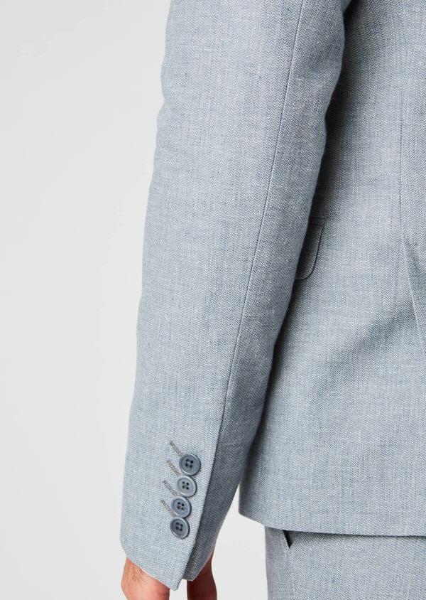 Veste coordonnable Slim en lin bleu - Father and Sons 20270