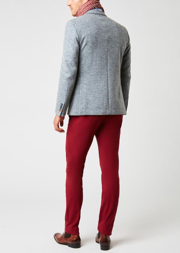 Veste casual Regular en coton façonné uni bleu - Father and Sons 27147