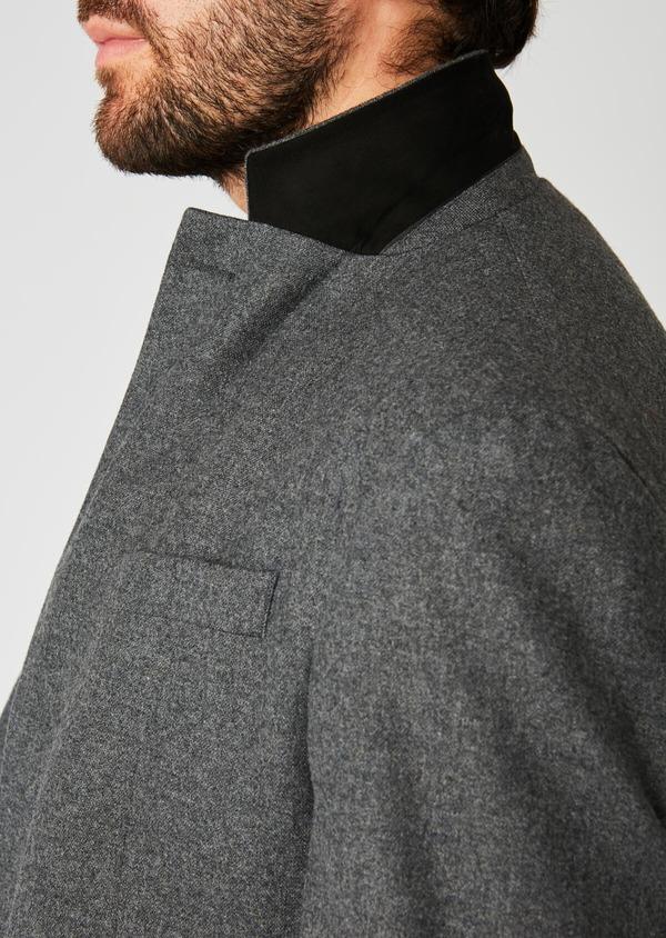 Veste coordonnable Regular en laine uni gris - Father and Sons 27108